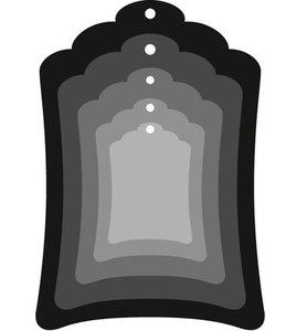 CR1352 Craftables snijmallen Labels (basic shape)
