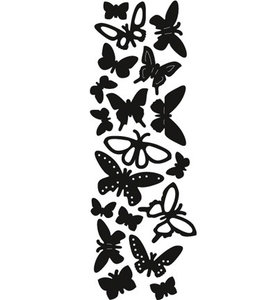 CR1354 Craftables snijmallen punch die butterflies - vlinders