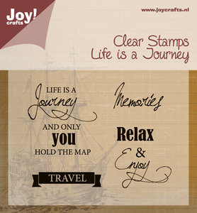 6410-0409 Clear stempel Life is a Journey