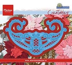 LR0436 Creatables stencil Petra's flower bowl Marianne Design