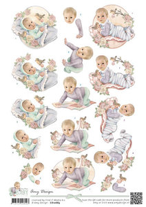 CD10684 Knipvel Vintage Baby Amy Design