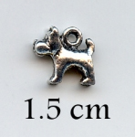 AS132 - zilver -Charms-dog