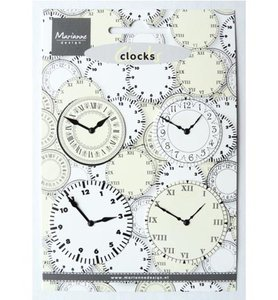 JU0956 Decoratiemateriaal Marianne Design Clocks