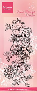 TC0847 Clear stempel Tiny's border roses Marianne Design