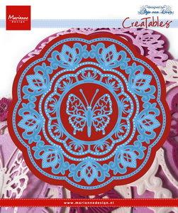 LR0454 Creatables snijmal Anja's Butterfly Marianne Design