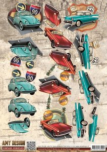 CD10846 3D Knipvel - Amy Design - Vintage Vehicles - Cars
