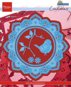LR0457 Creatables stencil Petras circle with bird