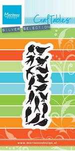CR1398 Craftables stencil punch die birds