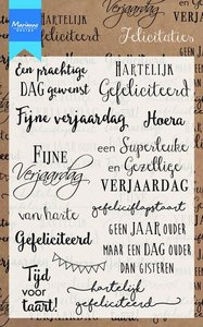 CS0987 Clear stempel Felicitaties Marianne Design