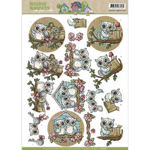 CD10871 Knipvel Yvonne Creations Moving Madness Owls