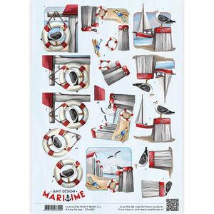 CD10881 3D Knipvel - Amy Design - Maritime - Meeuwen