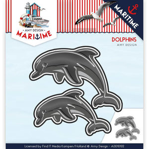 ADD10102 Snijmal Amy Design - Maritime - Dolphins