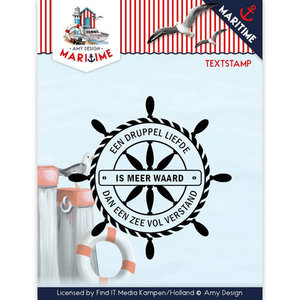 ADCS10015 Clearstamp tekst Amy Design Maritiem