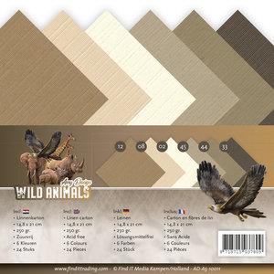AD-A5-10011 Linnenkarton A5 Wild Animals Amy Design