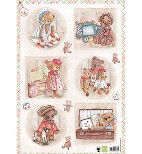 EWK1249  Knipvel Els Wezenbeek Teddybears 1