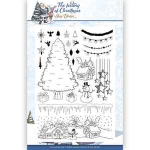 ADCS10019 Clear stempel The feeling of Christmas Amy Design