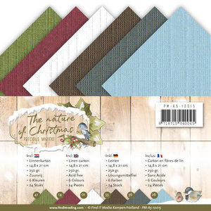 PM-A5-10015 Linnenkarton The nature of Christmas Precious Marieke A5