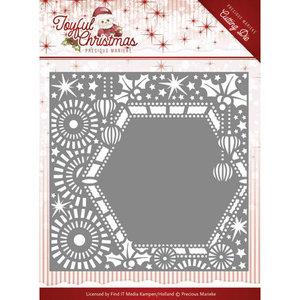 PM10108 Die-Precious Marieke - Joyful Christmas - Ribbon frame
