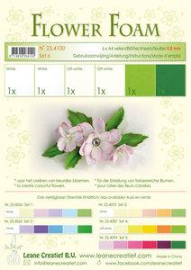 25.4100 Flower foam assortment set 6 white - green