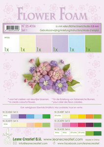 25.4056 Flower foam assortment set 1 pastel