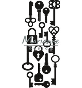 Snijmallen Craftables CR1435 - Punch die keys