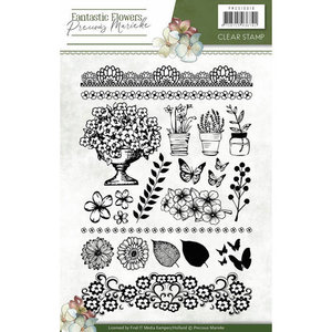 PMCS10018 Clearstamp - Precious Marieke - Fantastic Flowers