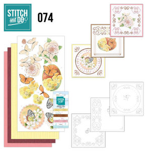 STDO074 Stitch and Do Borduurset 74 Vlinders en Bloemen