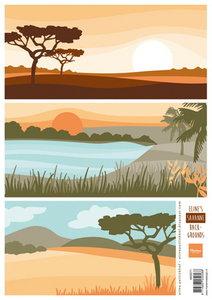AK0071 Knipvel Eline's savanne backgrounds