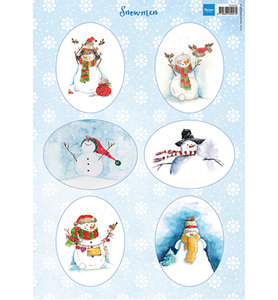 VK9568 Knipvel Marianne Design Snowmen ovals