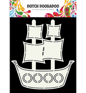 470.713.685 Dutch Doobadoo Card Pirate Ship