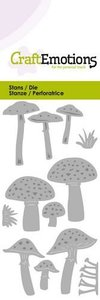 115633-0221 CraftEmotions Die - diverse paddenstoelen