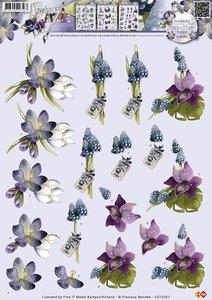 CD10357 3D Knipvel - Precious Marieke - Bloemen