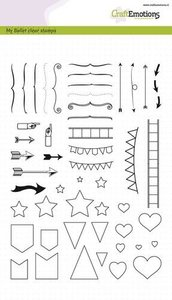 130501-1752 CraftEmotions clearstamps A5 - Bullet Journal - tekens groot