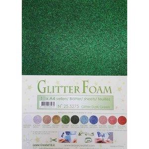 25.5275 Glitterfoam donkergroen
