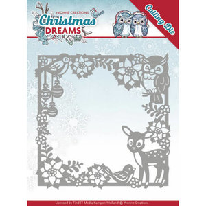 YCD10140 Snijmal Yvonne Creations Christmas Dreams - Animal Frame