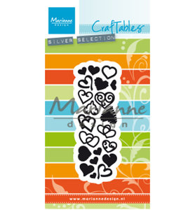 CR1460 Craftables Punch die Sweet Hearts A