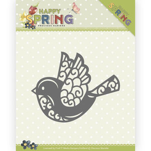 PM10151 Dies - Precious Marieke - Happy Spring - Bird