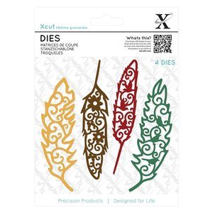 XCU 503433 Dies (4pcs) - Filigree Feathers