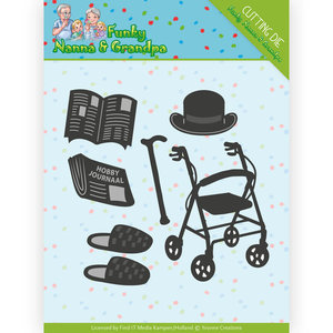 YCD10159 Dies - Yvonne Creations - Funky Nanna's - Grandpa Accessoires