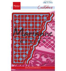 LR0585 -Creatables snijmal Anja's grid corner
