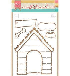PS8030 Craftstencil Doghouse by Marleen