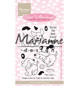 EC0177 Clearstamps Eline's cute animals – puppies