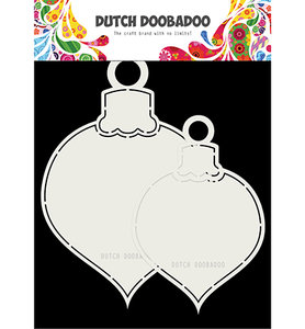 470.713.721 Dutch Doobadoo Shape Art 2x Kerstballen