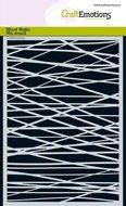 185070-1268 CraftEmotions Mask stencil - lijnen ruit kruislings onreg. A5
