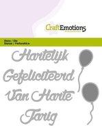 115633-0301 CraftEmotions Die Tekst - Hartelijk Gefeliciteerd (NL)