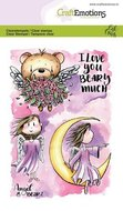 CraftEmotions clearstamps A6 - Angel & Bear 2  130501-1645