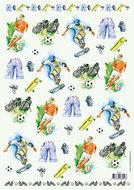 vb8929 3D knipvel mannen voetbal