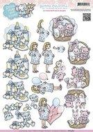 CD10463 -  3D Knipvel - Yvonne Creations - Smiles, Hugs and Kisses - Babyshower