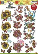 CD10369 3D Knipvel - Yvonne Creations - Opkikker - Bloemen