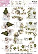 CD10467 3D Knipvel  - Romance - Garden Flowers